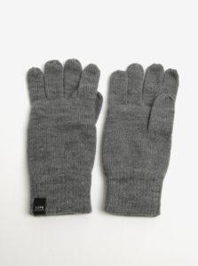 Sivé rukavice Jack & Jones DNA