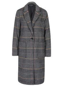 Sivý vzorovaný kabát Miss Selfridge