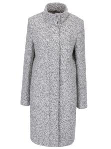 Krémový melírovaný zimný vlnený kabát VILA Fall