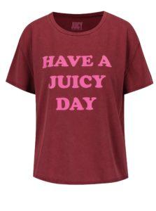 Vínové tričko s potlačou Juicy Couture