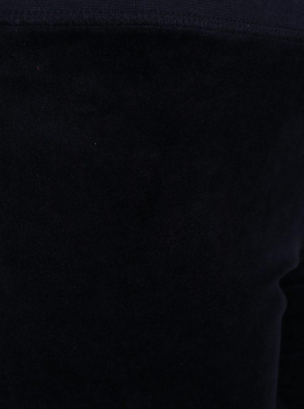 Tmavomodré zamatové tepláky Juicy Couture