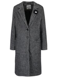 Tmavosivý vzorovaný kabát TALLY WEiJL