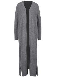 Sivý dámsky dlhý vlnený kardigán Calvin Klein Jeans Sumi