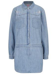 51c599280fae Svetlomodré košeľové šaty s výšivkou Juicy Couture