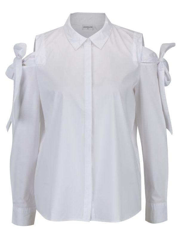 Biela košeľa s prestrihmi na ramenách Jacqueline de Yong Taylor
