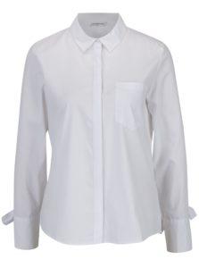 Biela košeľa s mašľami na rukávoch Jacqueline de Yong Taylor