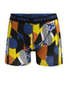 Modro-čierne vzorované boxerky Jack & Jones Path