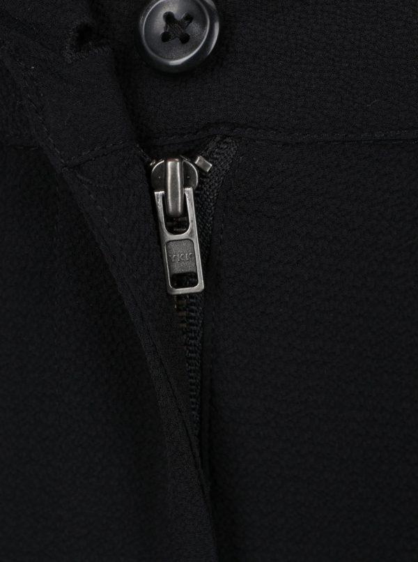 Čierne dievčenské voľné nohavice s vysokým pásom LIMITED by name it Inger