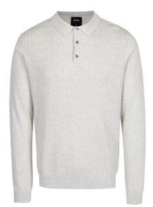Krémový vzorovaný sveter s golierom Burton Menswear London