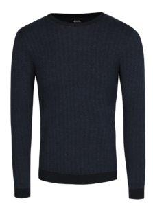 Modrý vzorovaný sveter Burton Menswear London