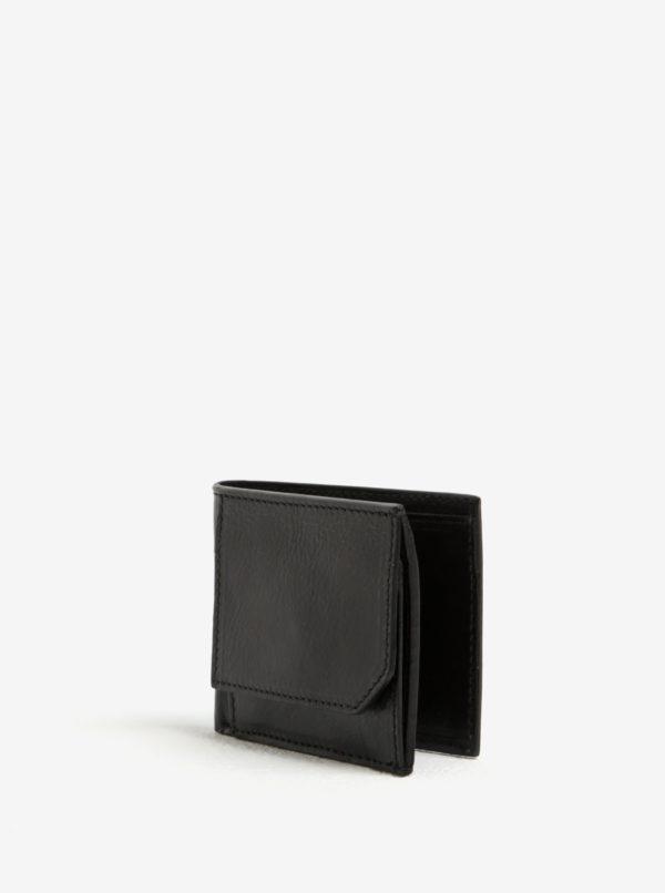 Čierna pánska kožená peňaženka Elega
