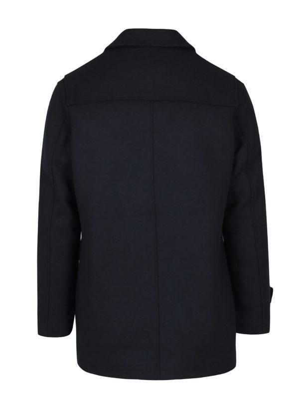 Tmavomodrý kabát s prímesou vlny Selected Homme Thor