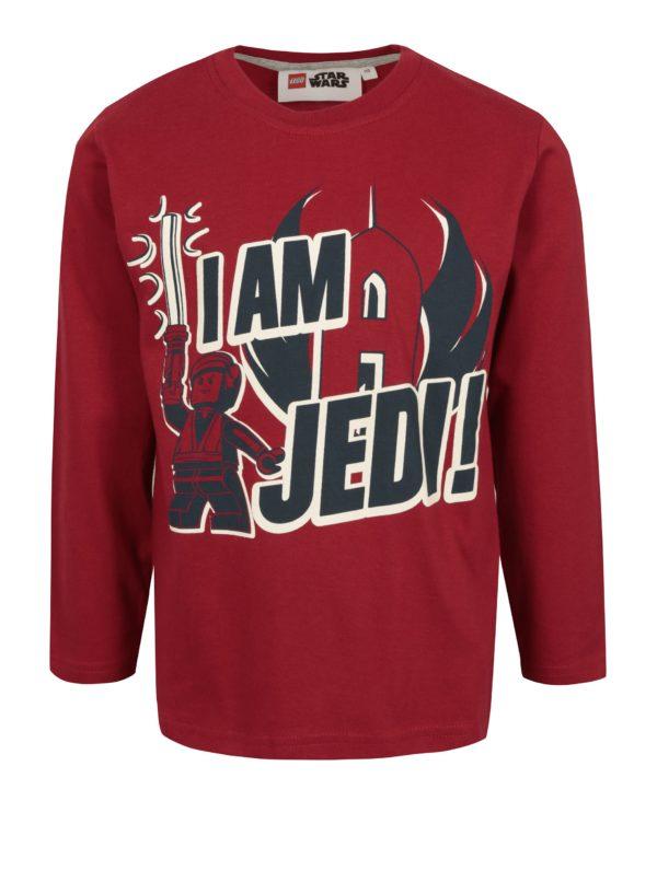 Červené chlapčenské tričko s potlačou Star Wars Lego Wear