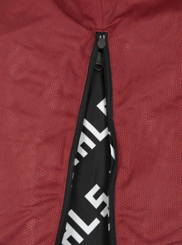 Bielo-čierna tenká vzorovaná bunda s kapucňou Jack & Jones Anton