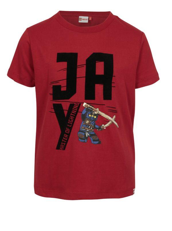 Červené chlapčenské tričko s potlačou Lego Wear Teo