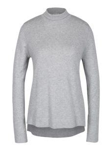 Sivé melírované tričko s rolákom VILA Flary