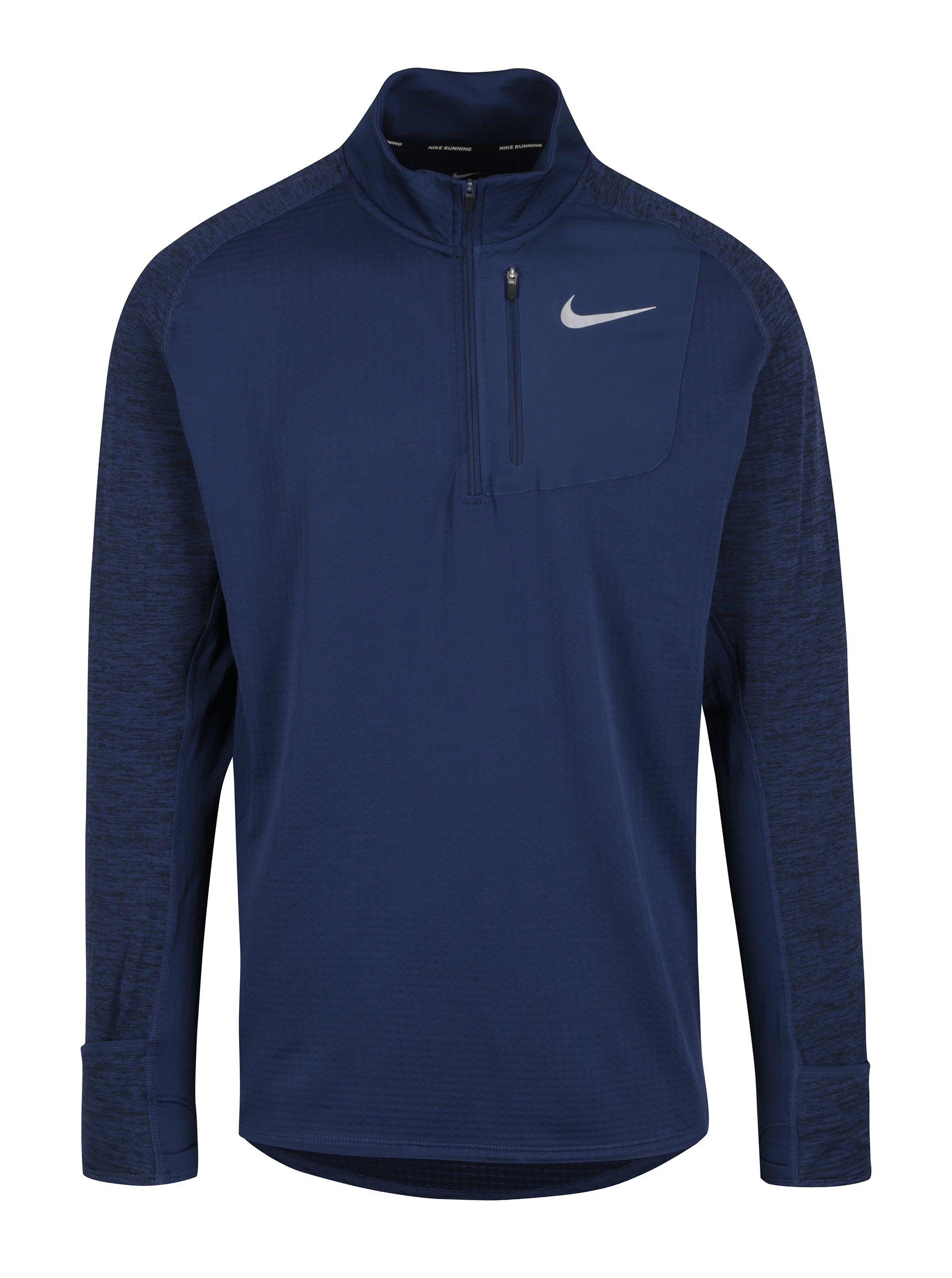 2fa7b1956d40 Modré pánske funkčné tričko s dlhým rukávom Nike