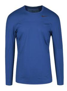 Tmavomodré pánske funkčné tričko s dlhým rukávom Nike