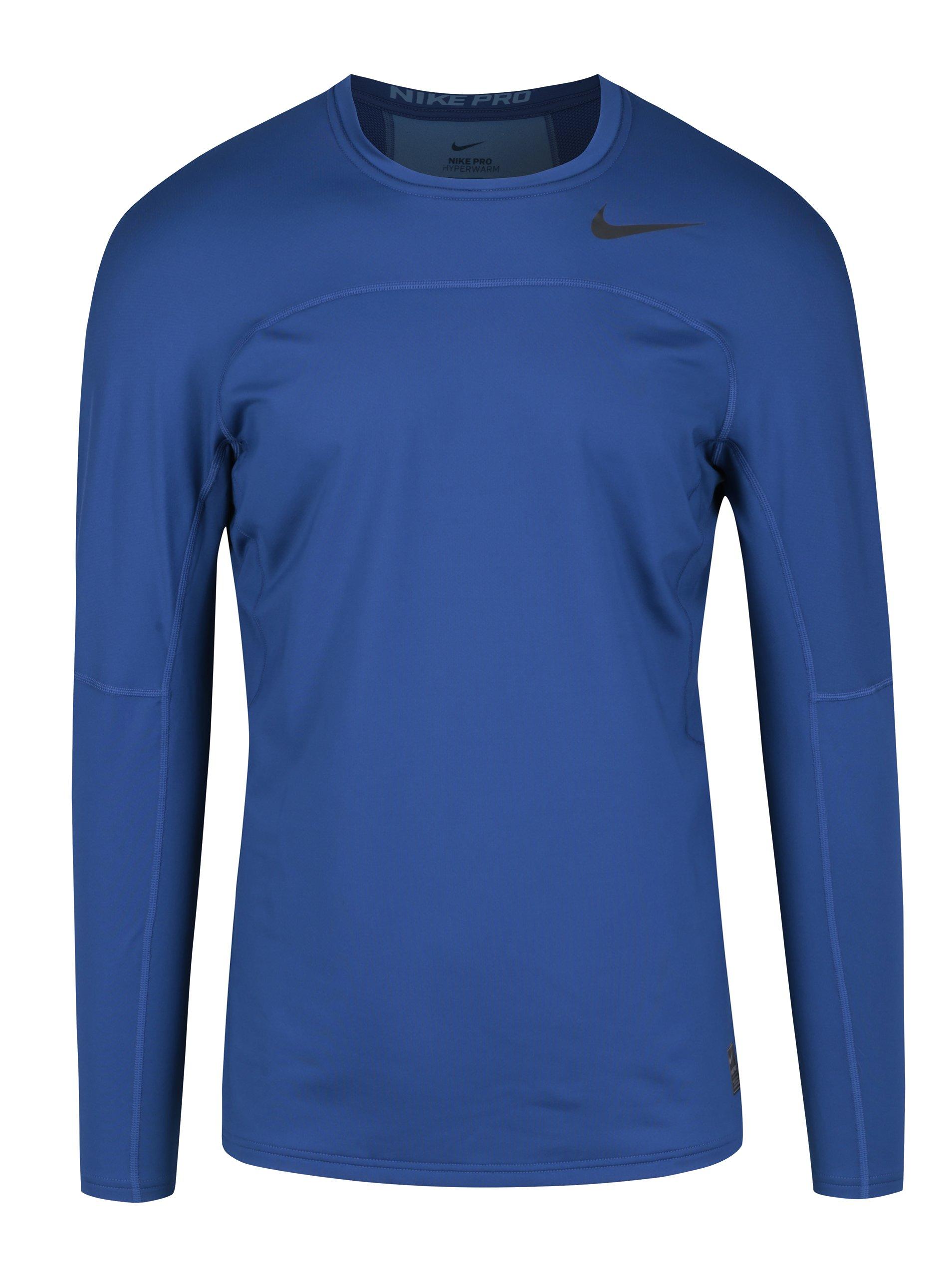 3b06521883e8 Tmavomodré pánske funkčné tričko s dlhým rukávom Nike