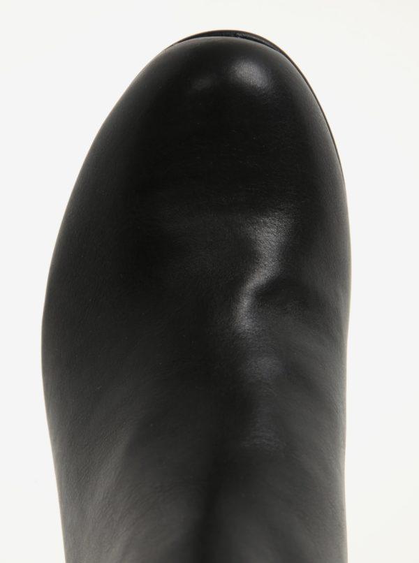 Čierne členkové topánky na širokom podpätku Dorothy Perkins