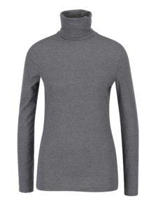 Sivé tričko s rolákom VERO MODA Charly
