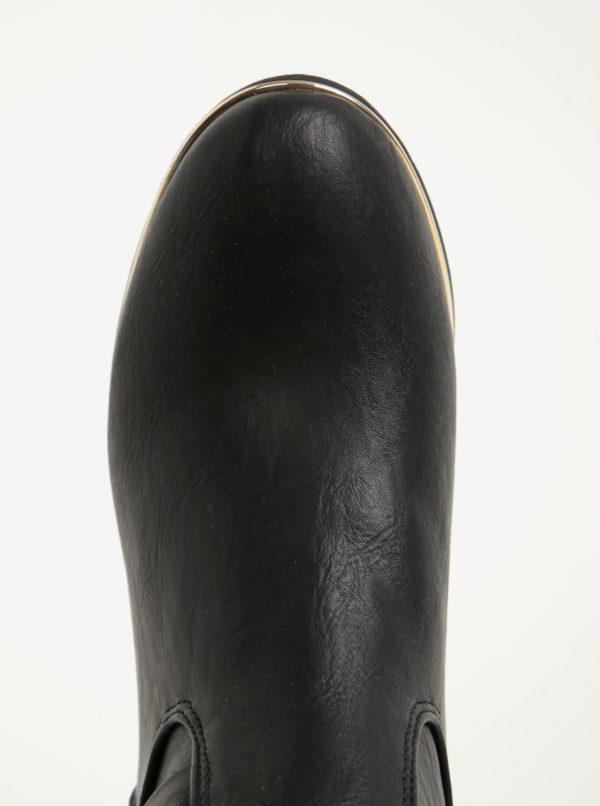 Čierne čižmy s detailmi v zlatej farbe Dorothy Perkins
