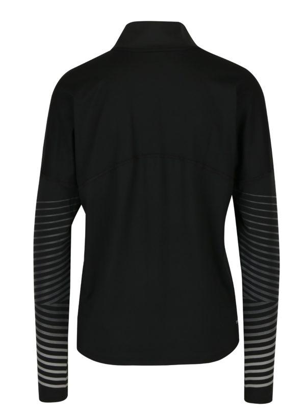 Čierne dámske funkčné tričko s dlhým rukávom Nike Element Flash