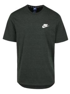 Zelené melírované pánske tričko s krátkym rukávom Nike