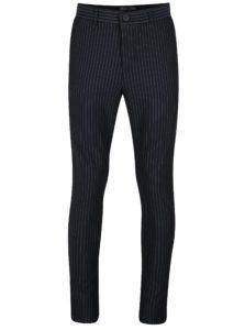 Tmavomodré pruhované nohavice ONLY & SONS Peer