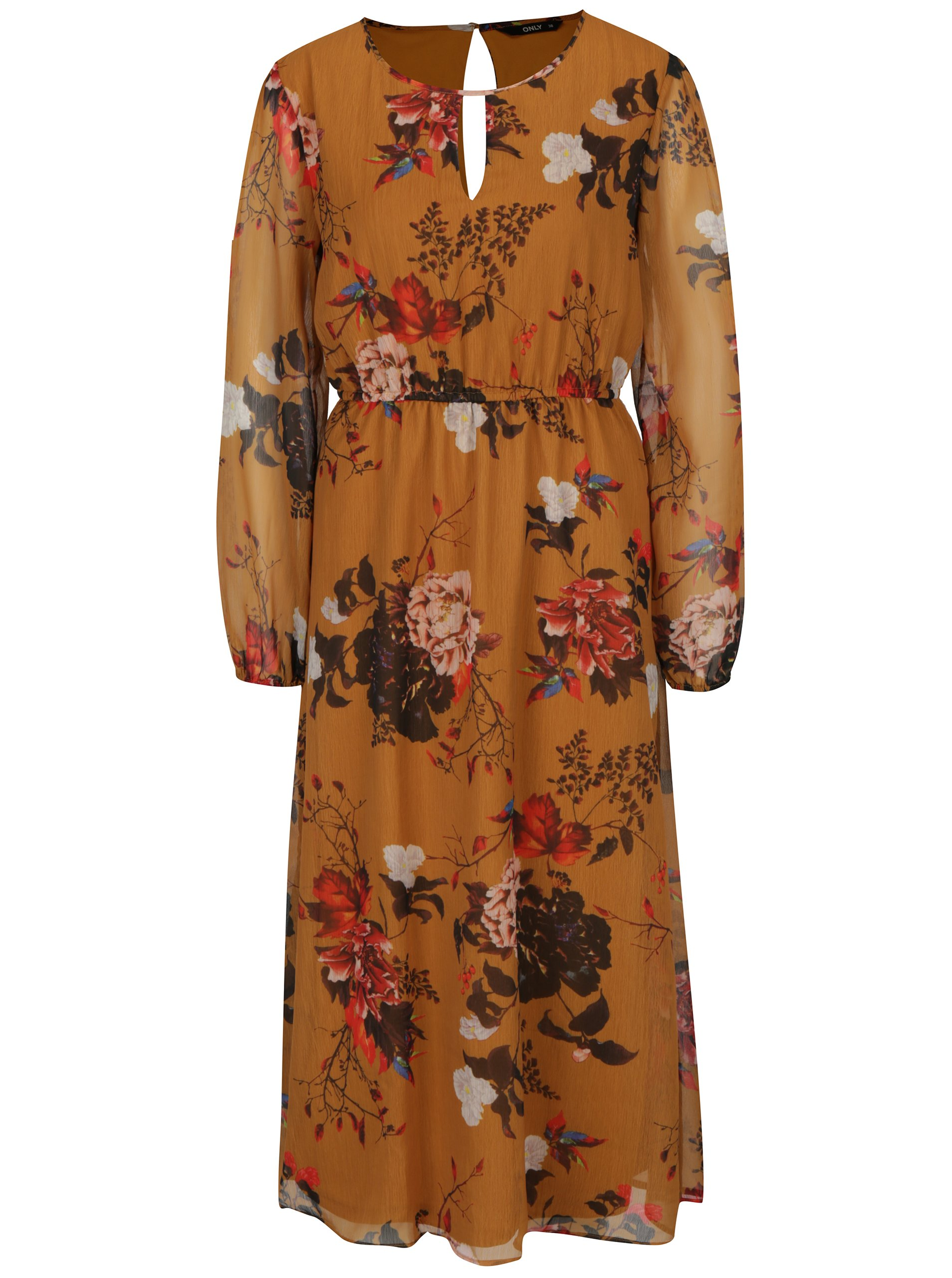 f61551d99f Horčicové kvetinové šaty ONLY Oda