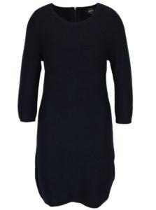Tmavomodré svetrové šaty s 3/4 rukávom ONLY Filippa