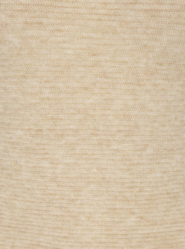 Béžové svetrové šaty s 3/4 rukávom ONLY Filippa