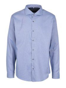 Modrá vzorovaná formálna košeľa Seven Seas Mr M3
