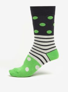 Modro-zelené bodkované unisex ponožky Fusakle Guľkopásik greenhorn