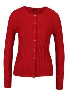 Červený dámsky vzorovaný kardigán M&Co