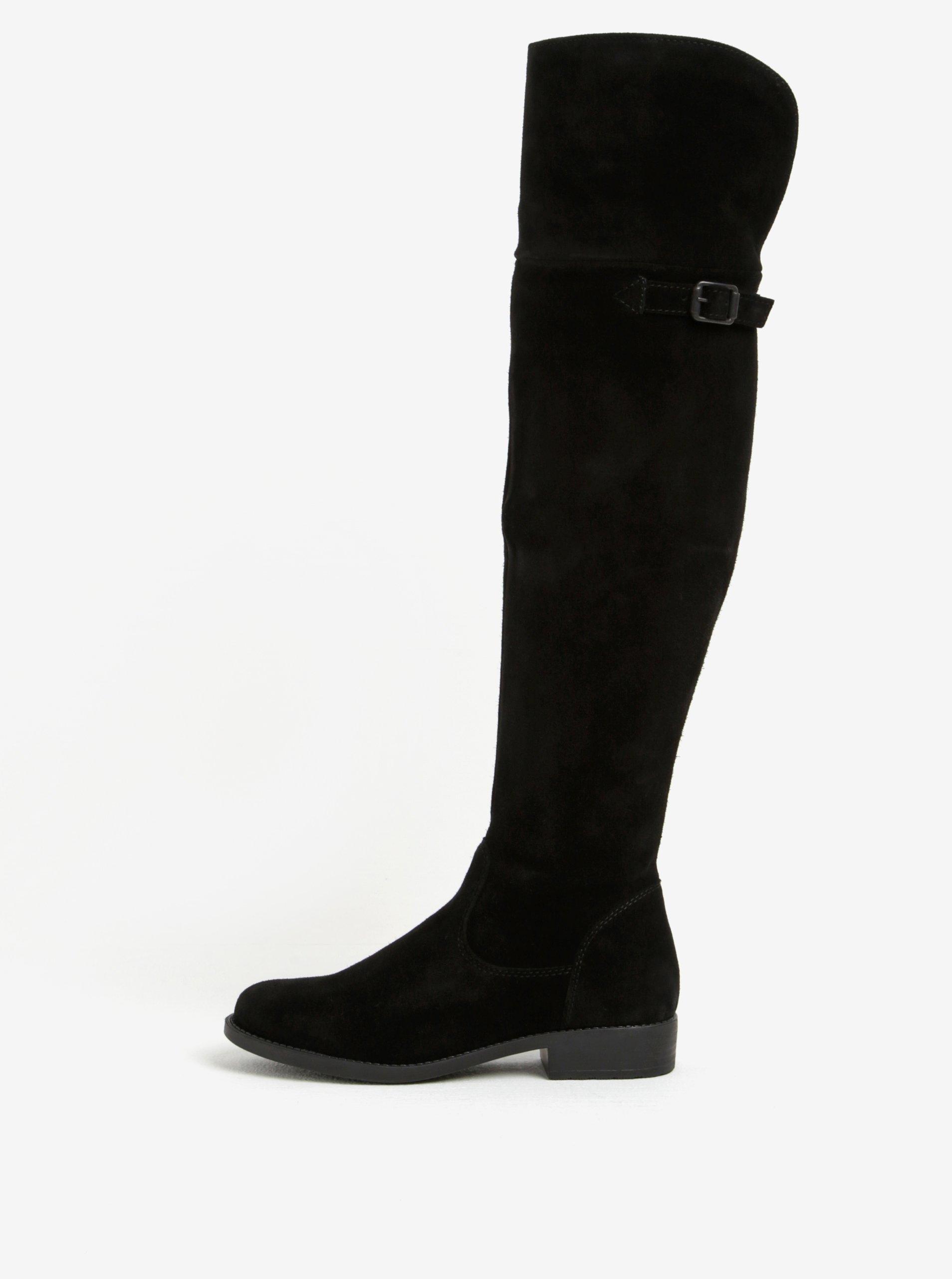 501d82a602e28 Čierne vysoké semišové čižmy Tamaris | Moda.sk
