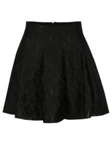 Čierna čipkovaná áčková sukňa TALLY WEiJL