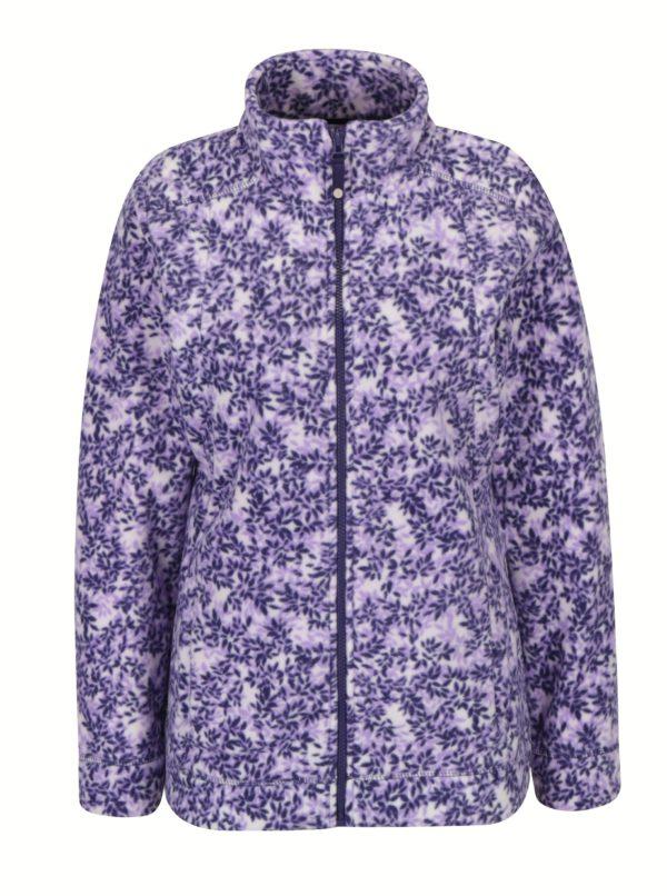 Krémovo-fialová kvetovaná mikina M&Co