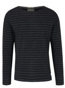 Čierne pruhované tričko Jack & Jones Vintage Ellis