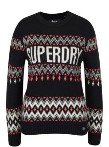 Tmavomodrý dámsky sveter Superdry Chevron