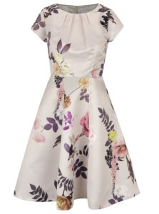 Béžové kvetované šaty Closet