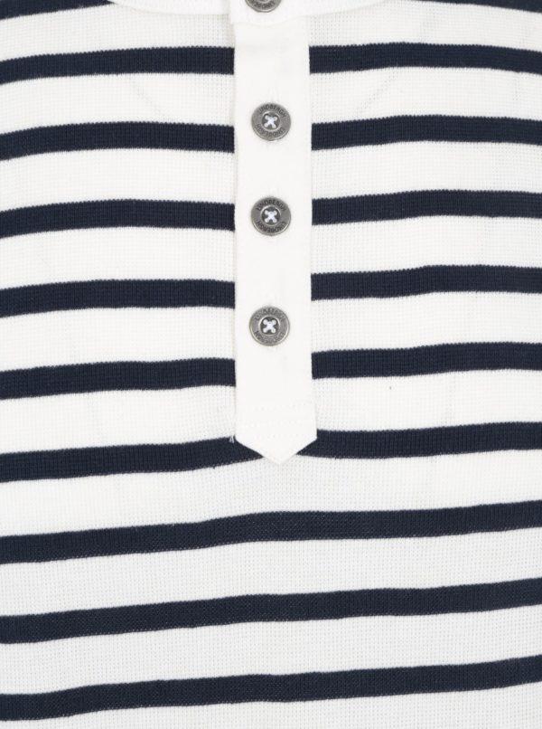 Modro-krémové pruhované tričko s dlhým rukávom Lindbergh