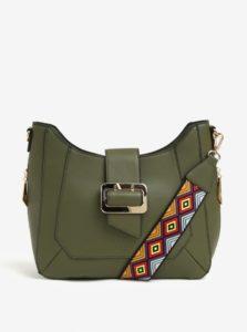 Kaki kabelka s detailmi v zlatej farbe LYDC 55dda41766d