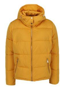 Žltá prešívaná zimná bunda Miss Selfridge