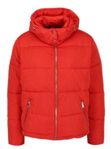Červená prešívaná zimná bunda Miss Selfridge