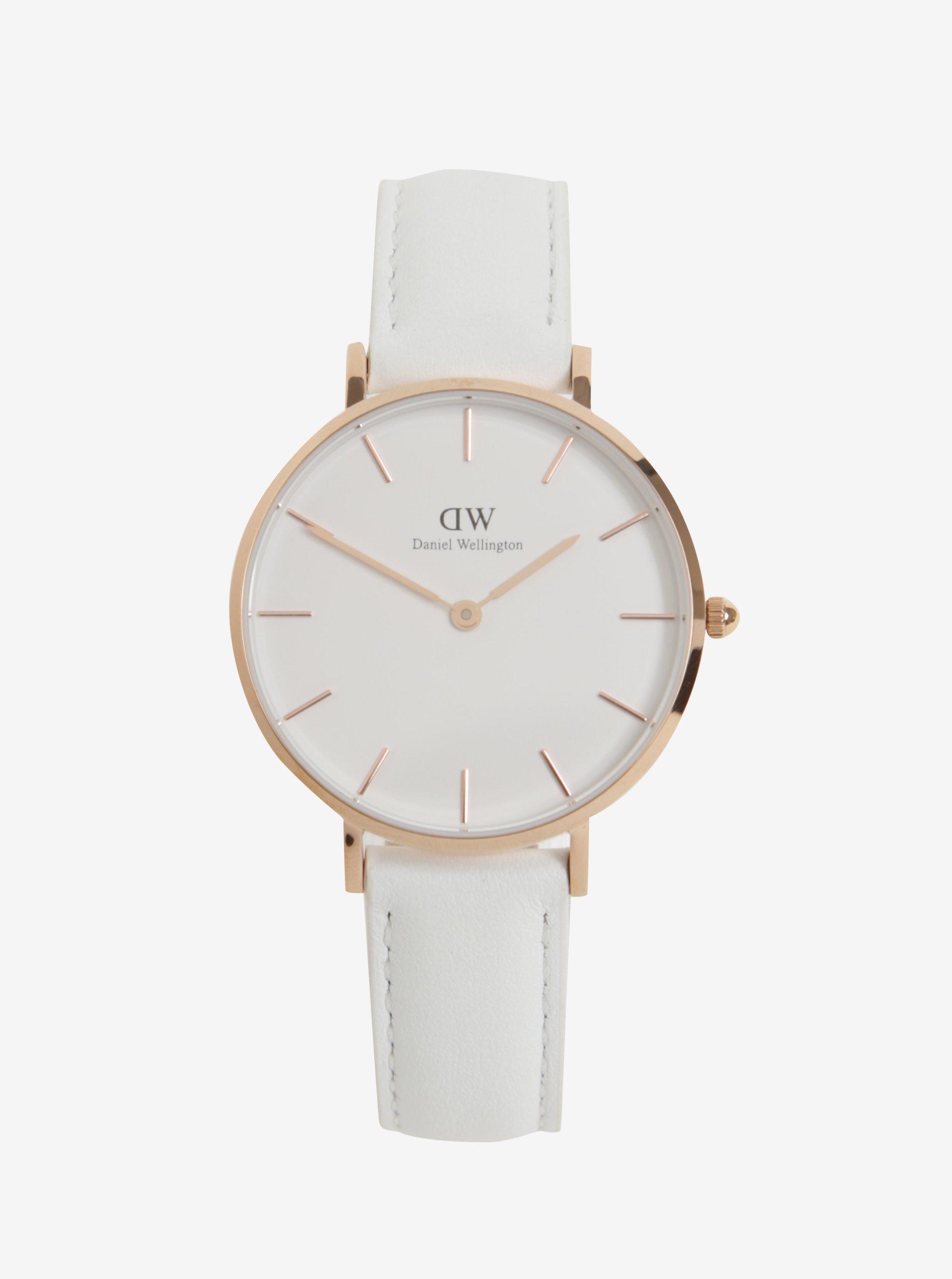 46c2b94dbc8e Dámske hodinky v ružovozlatej farbe s koženým remienkom Daniel Wellington