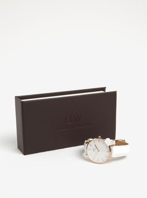 Dámske hodinky v ružovozlatej farbe s koženým remienkom Daniel Wellington