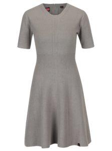 Sivé svetrové šaty Superdry Lexi