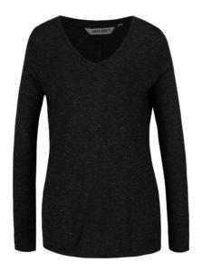 Čierne dámske tričko s priesvitným detailom na chrbte Garcia Jeans
