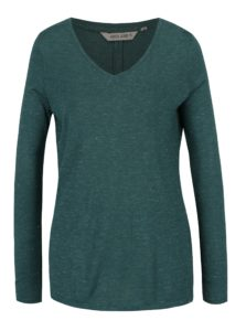 Zelené dámske tričko s priesvitným detailom na chrbte Garcia Jeans
